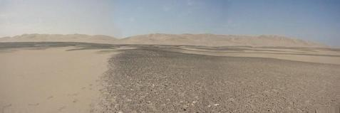#1: Panorama of point, looking North.  Point is in dark area in center of photo.