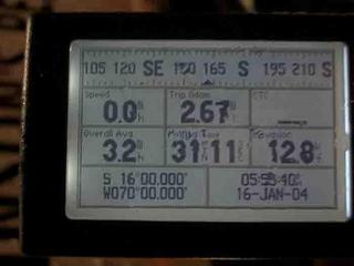 #1: The Garmin GPS V reads all zeros near Puno, Peru.  It was a dark and rainy night...