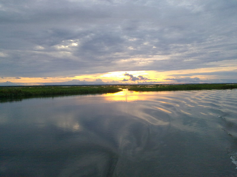 Sunset at ARM210 - upstream of Tidal Island
