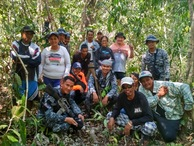 #7: Mike & Bethilda Smith, LCDR Dagalea PCG Lt. Diciano PCG, Coastguard Escort and local curious villagers