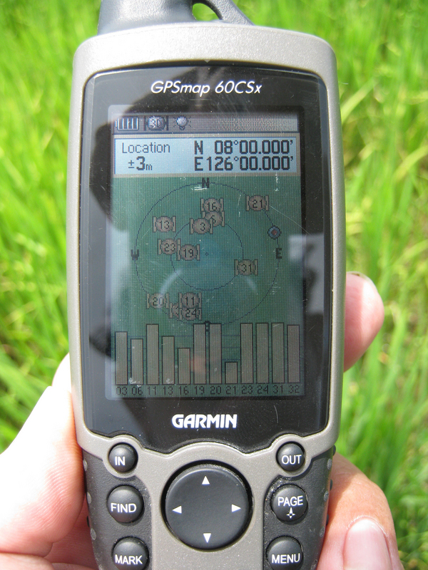 GPS reading on the spot