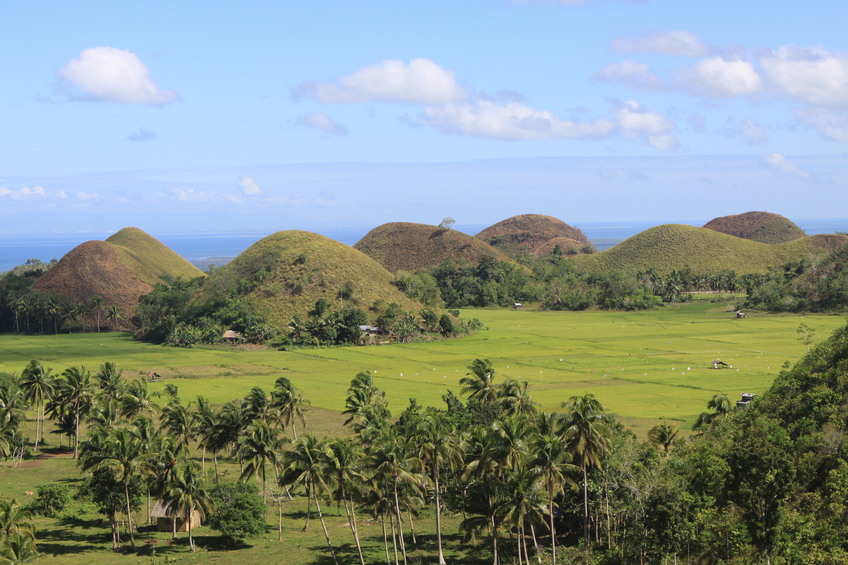 Chocolate Hills in Sagbayan town of Bohol