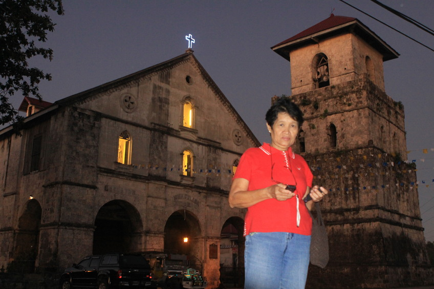 Santah Fuentes at old Baclayon Church