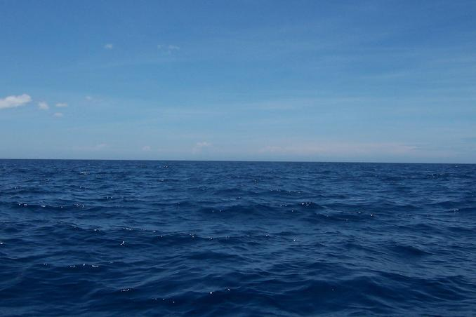 Looking West to the big blue sea towards Palawan Island
