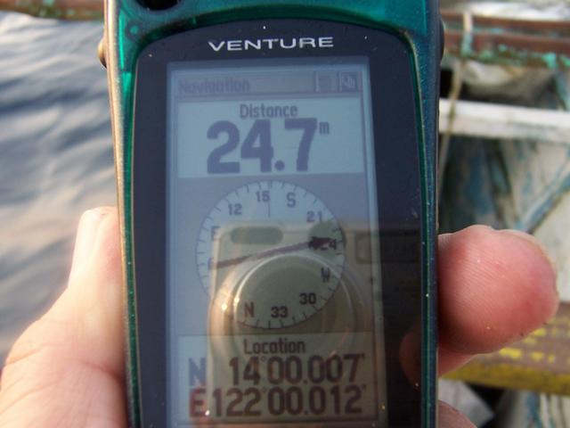 GPS Reading 25 meter off 14N 122E
