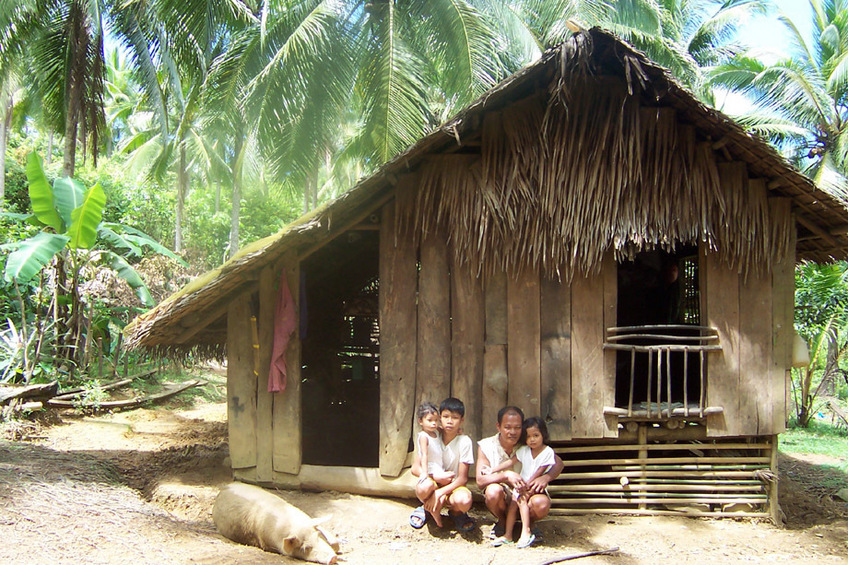 Rafael Family and hut nearby