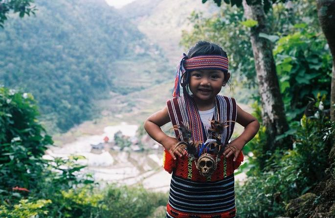 Ifugao girl in traditional clothing.