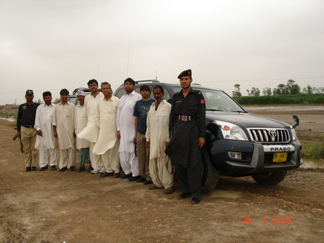 Group with Jeep drivers and myself after completing the task
