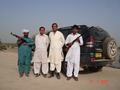#8: Mr Bijarani and myself with Ayoob driver and guard Baz Mohammad