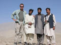#3: From Left. Geof Thorpe-Willett, Dour Mohammad, Jamil Karzai, Ayub Tareen