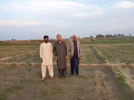 #7: Me, Mr karam Hussain and a local farmer Mr Ramzan at confluence point