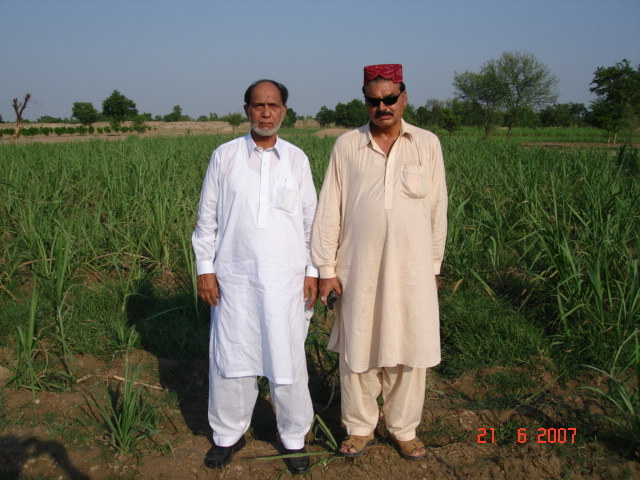 Malik Maqsood and Driver Anwar at confluence point