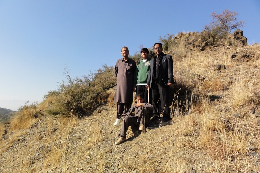 Me(akk),Bilal,Capt Nazar and Chanzeb our guide.