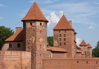 #8: Historic Malbork Castle, about 5 km North of the point