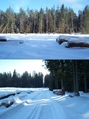 #8: Glade (with my footsteps in snow) and the nearby blue marked tourist path
