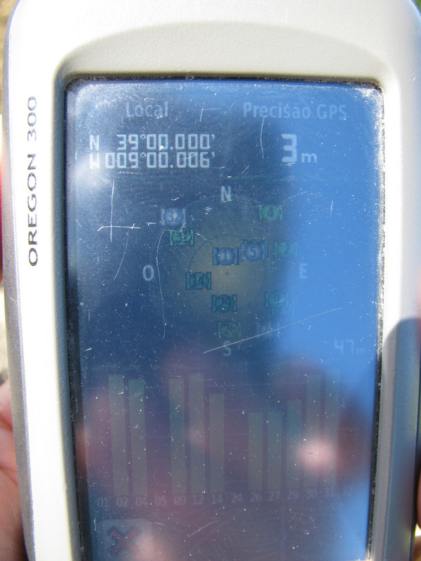 My GPS at 39º / 9º
