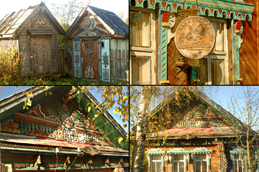 Well-decorated wooden house / Дом мастера