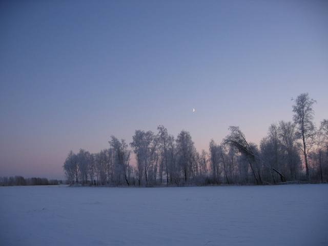 Russian winter scenery (on the way back to our car)