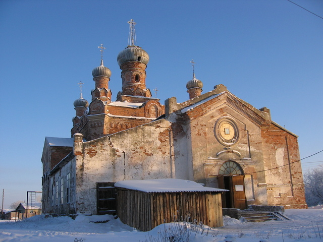 The orthodox church in Zhitnikovskoye settlement
