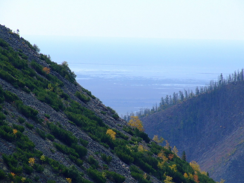 View zoomed to the lake Baikal in south-west