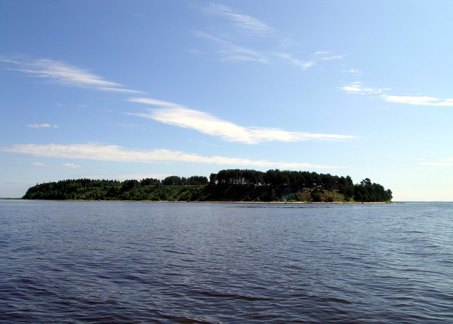 East view from CP to Belov Island