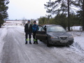 #9: (From left) Artem Sismekov and Roman Churakov. On the road 200 metres from the confluence