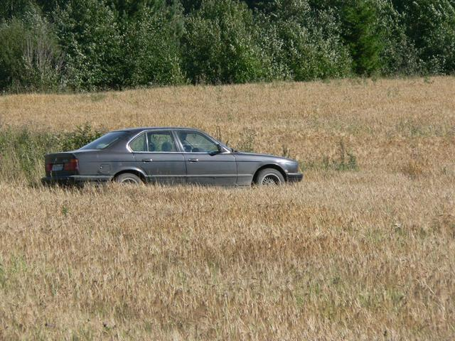 Parking in the field