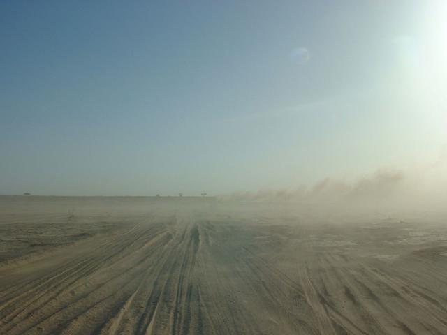 The dusty track to Najrān