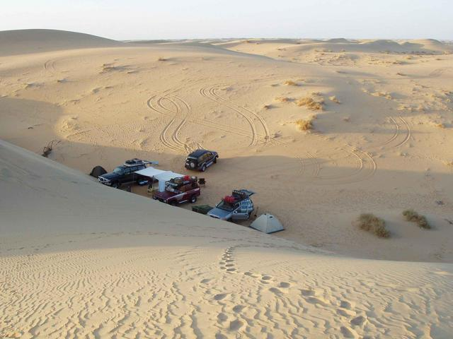 Our camp side in the dunes