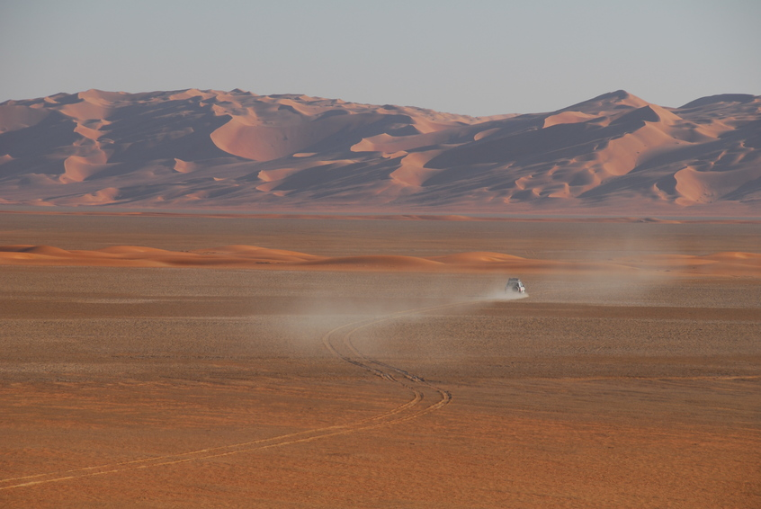 Sabkha and dune ridge on our exit route from the Confluence