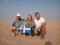 #8: Guy, Lise and Marc on the Confluence, proud of their Québec flag!