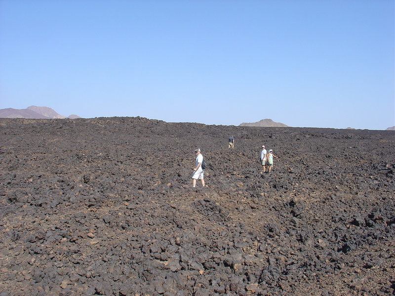 An idea of the extent of the lava field to be crossed