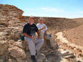 #2: Bob and I at the confluence point, south behind us, east and west views are just canyon walls.