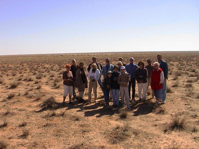 Our group in front of a herd of sheep