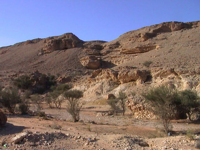 Wādī 10 km west of the confluence point