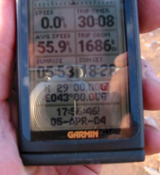 Another bad photograph of the GPS.