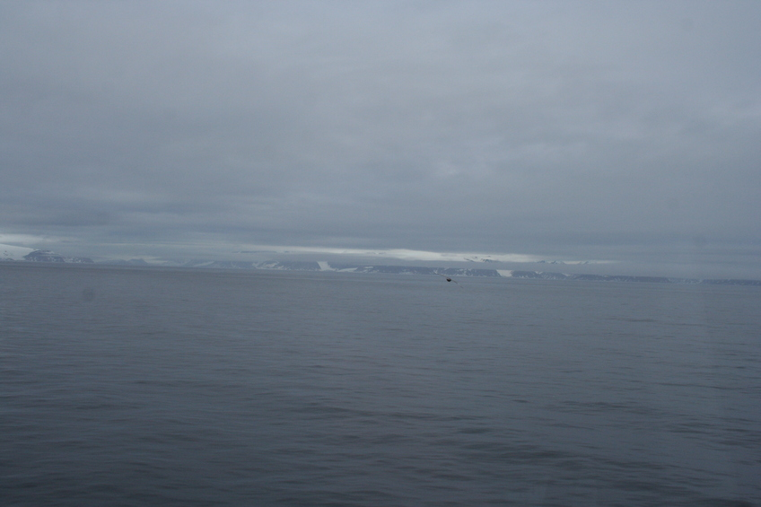 Looking south at the northern coast of Svalbard