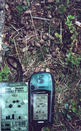 #6: The GPS at a pile of moose droppings near the confluence.