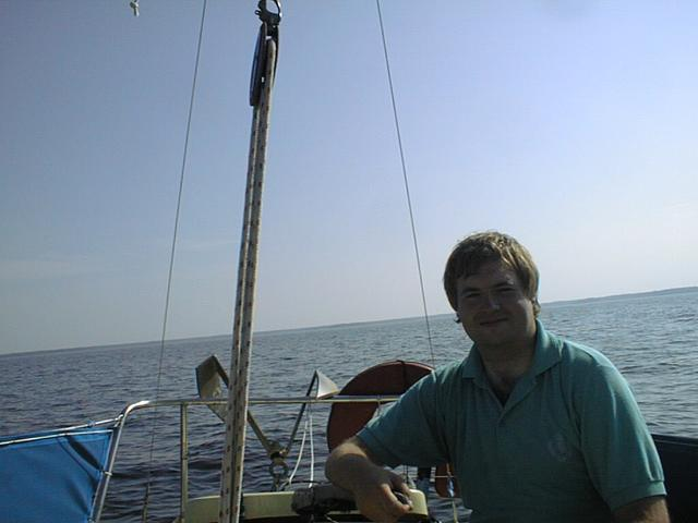 This is me, Jörgen Granstam, in my boat near 59N13E