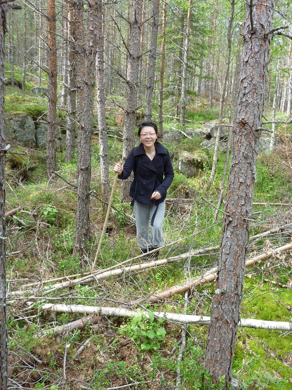 Jie ZHANG in the bush