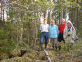 #3: Looking south. Nils, Agneta, Gunnar, Eva