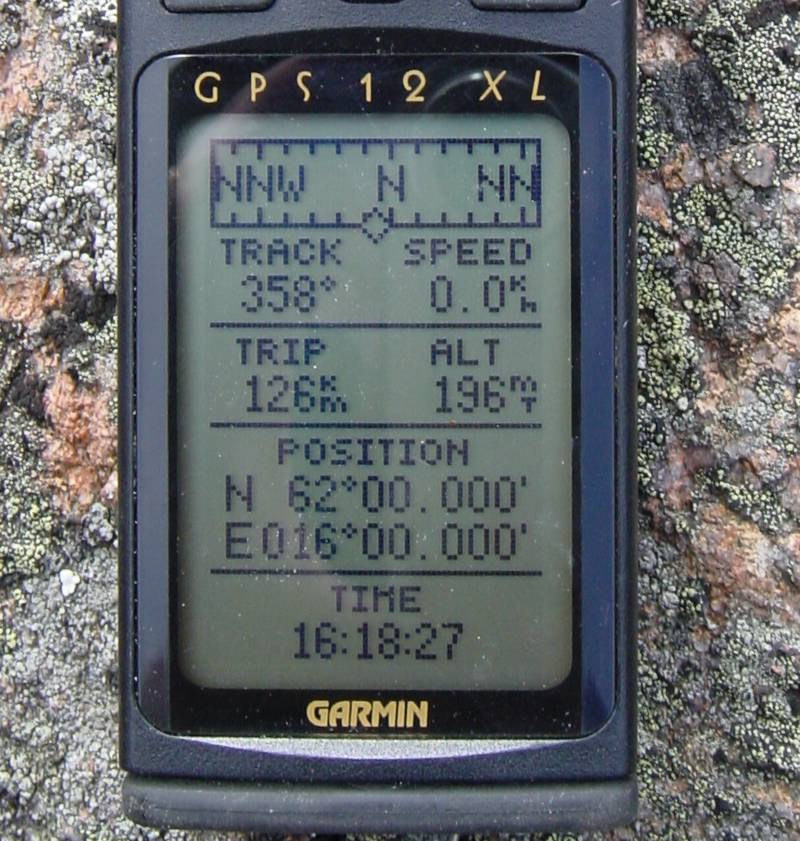 The GPS display