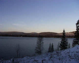 #1: Lake Saltsjön, 40 meters west of the confluence