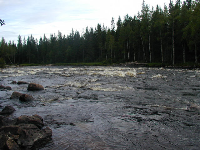 Wrong side of Byske river 900 meters left