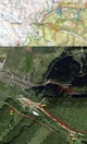 #7: My track on the map (© VKU Harmanec), satellite image (© Google Earth 2007) and aerial photo (© GEODIS)