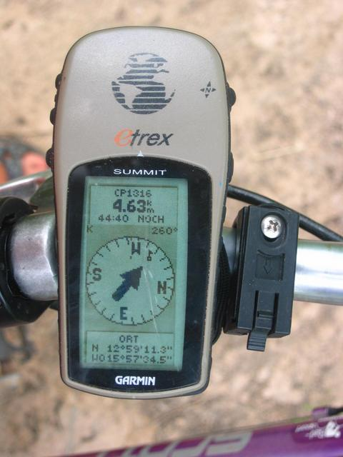 GPS reading at the second Point of Return