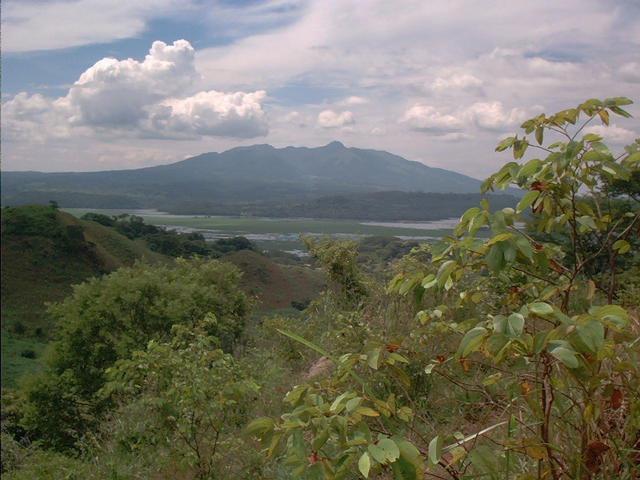 SW View of the Cerrón Grande Reservoir and the Guazapa Volcano