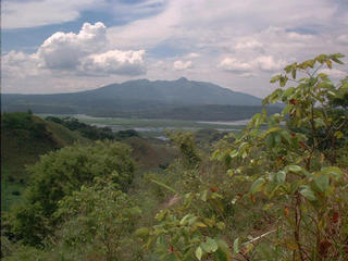 #1: SW View of the Cerrón Grande Reservoir and the Guazapa Volcano