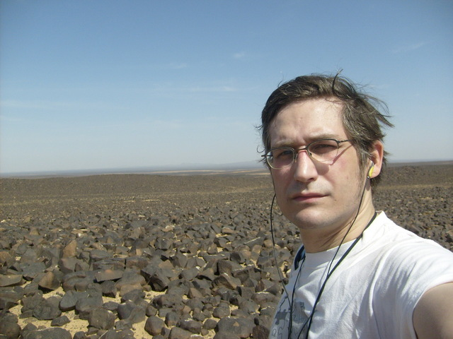 Philipp somewhere in the lava field