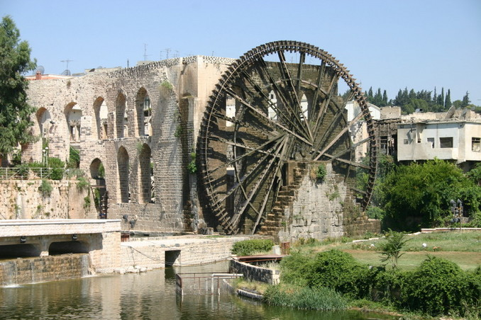 Nuria (water wheel) at Hamāt